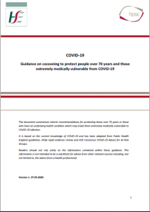 COVID-19 Guidance on cocooning